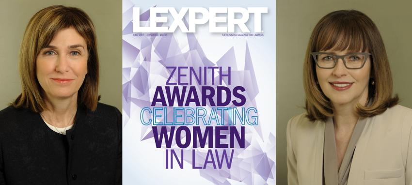 Frances Gallop and Angela Rae honoured by the Lexpert Zenith Awards 2017: Celebrating Women in Law